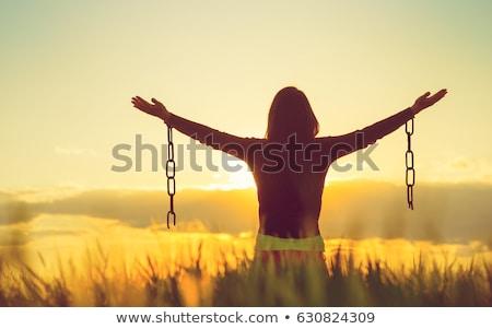 odaadás · hit · fiatal · keresztény · nő · imádkozik - stock fotó © stevanovicigor