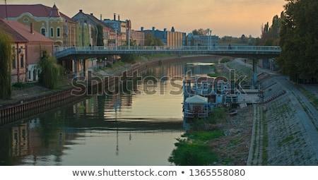Serbia vista río cielo árbol edificio Foto stock © goce