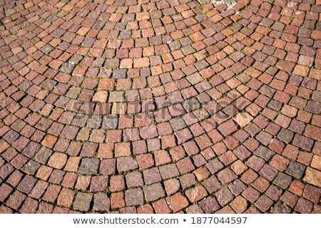 Background from paving stones, rectangular stones in red shades  Stock photo © meinzahn