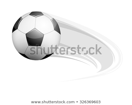 vector grunge flying soccer ball  Stock photo © freesoulproduction
