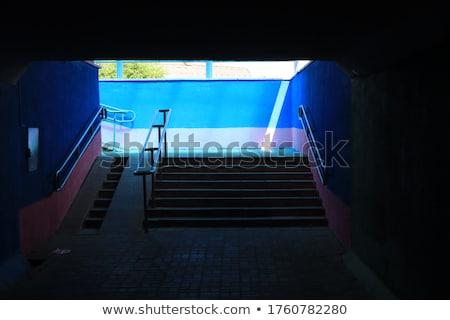 Kijárat városi lépcsőház földalatti átjáró sötét Stock fotó © stevanovicigor