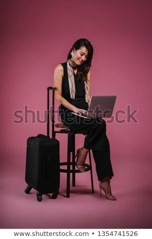 Foto stock: Chino · mujer · de · negocios · de · trabajo · portátil · negocios