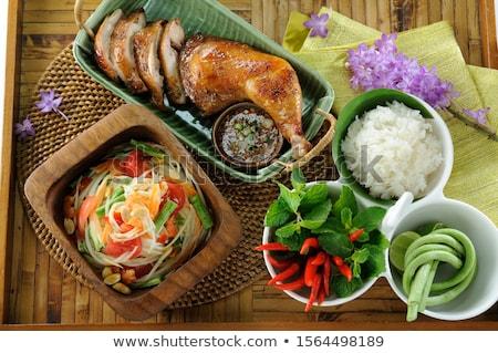緑 サラダ タイ料理 フルーツ 白 ホット ストックフォト © FrameAngel