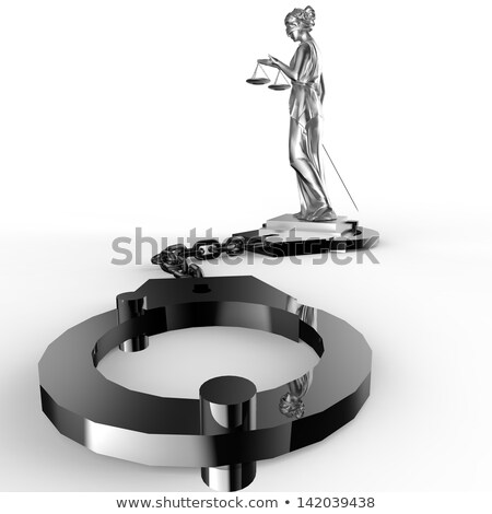 фотография статуя наручники белый бизнеса книга Сток-фото © andromeda
