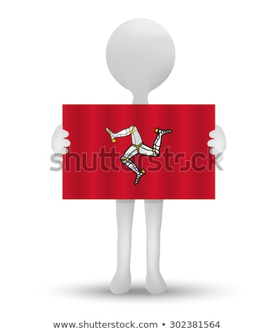 mały · mężczyzna · 3d · indonezyjski · banderą · eps - zdjęcia stock © istanbul2009