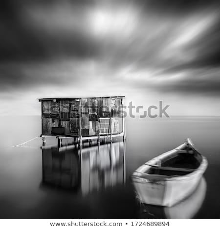 Boat in a old boathouse in Greece Stock photo © Mps197