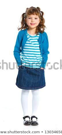 bastante · encantador · little · girl · vestir · em · pé · posando - foto stock © stockyimages