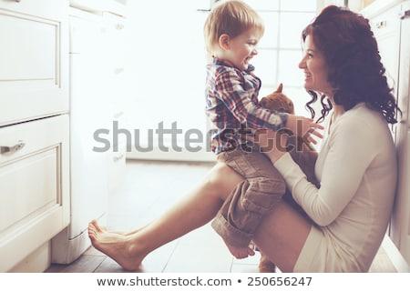 женщина улыбается сын ребенка саду матери портрет Сток-фото © bmonteny
