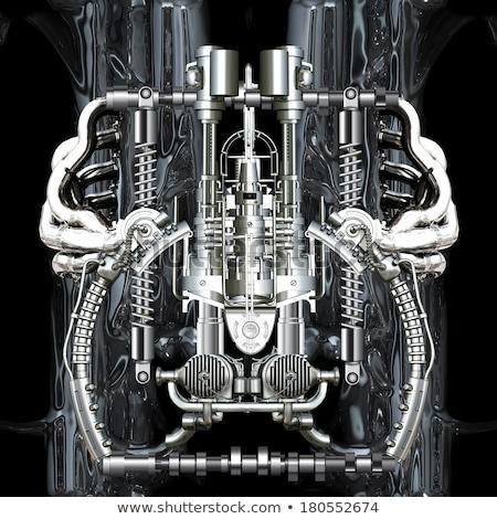Combinación mecánico primer plano fábrica industrial Foto stock © OleksandrO