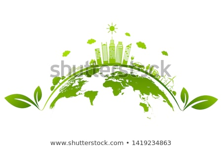 Stock photo: ecology green planet illustration
