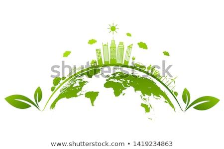 benzin · illusztráció · levél · szolgáltatás · növény · újrahasznosít - stock fotó © slobelix