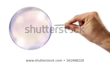 Banking Bubble about to explode by a needle  Stock photo © klublu