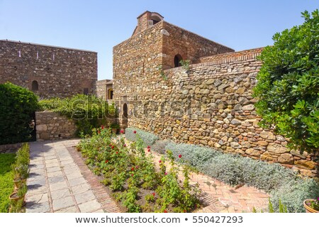 jardim · palácio · málaga · Espanha · céu · edifício - foto stock © HERRAEZ
