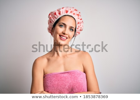 Smiling Woman in Bath Towel with Arms Crossed stock photo © dash