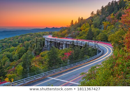 linn cove viaduct in blue ridge mountains at night Stock photo © alex_grichenko