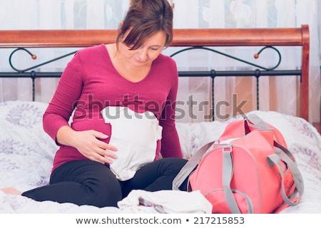 mulher · grávida · hospital · saco · grávida - foto stock © przemekklos