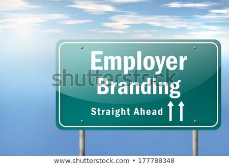 雇用者 ブランド設定 道路 道標 ビジネス 道路 ストックフォト © tashatuvango