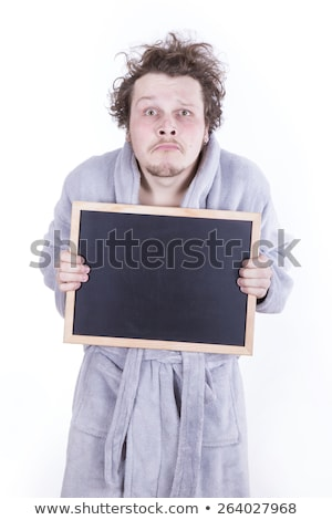 Tiredman in a robe Stock photo © gemenacom