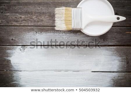 Stok fotoğraf: Fırçalamak · beyaz · ahşap · doku · uzay