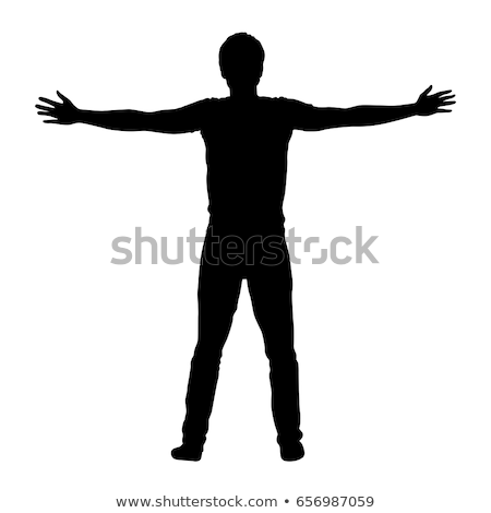 armed men silhouettes stock photo © Slobelix