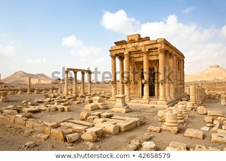 Ancient Roman time town in Palmyra (Tadmor), Syria. Greco-Roman & Persian Period Stock photo © Dserra1