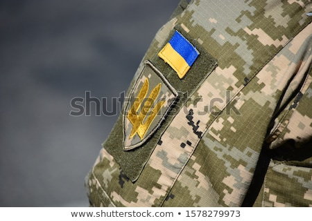 bandeira · Ucrânia · computador · gerado · ilustração · azul - foto stock © leonardi