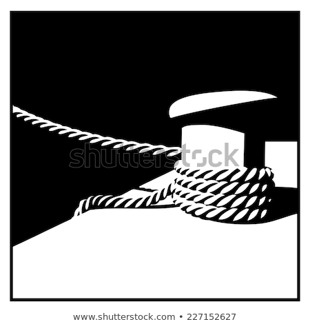 Knecht and mooring ropes  black and white Stock photo © tracer