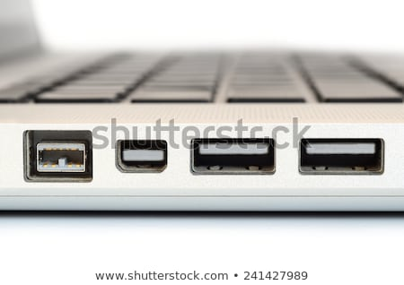 Closeup up of computer laptop selective focus on firewire port i Stock photo © keneaster1