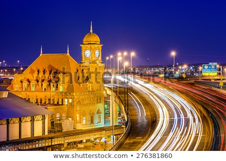 Сток-фото: главная · улица · станция · здании · часы · корпоративного · архитектура