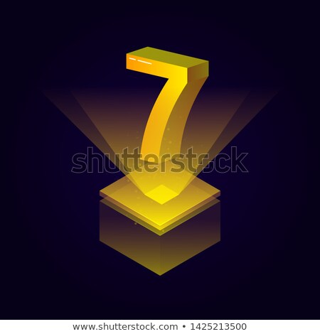 dourado · preto · fonte · número · 3D · 3d · render - foto stock © creisinger