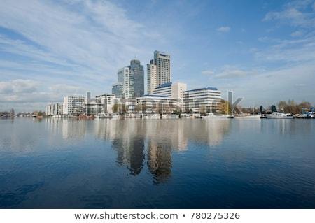 Амстердам · канал · закат · Нидерланды · дома · улице - Сток-фото © joyr