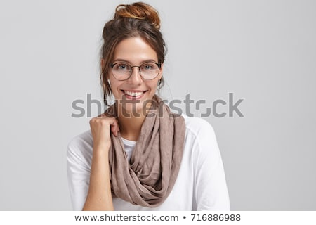 かわいい 少女 着用 スカーフ 孤立した 白 ストックフォト © aza