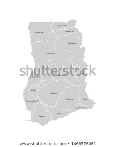 map of Ghana Stock photo © mayboro1964