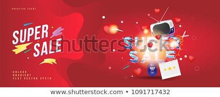 super discount red vector icon design stock photo © rizwanali3d