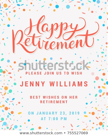 Retirement Party illustration  Stock photo © Irisangel