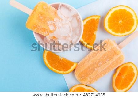 Homemade orange popsicles Stock photo © BarbaraNeveu