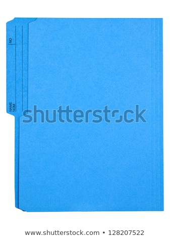Blue folder with an empty label Stock photo © Zerbor