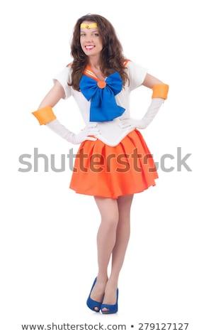 de · moda · mujer · colorido · vestido - foto stock © elnur