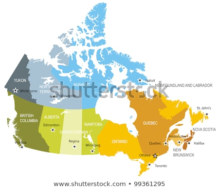 map of canada   nunavut territory stock photo © istanbul2009