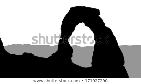 arco · Utah · parque · tarde · tarde · sol - foto stock © silkenphotography