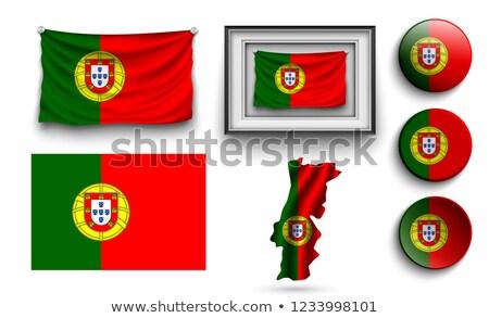 Carré vignette pavillon Portugal isolé blanche Photo stock © MikhailMishchenko