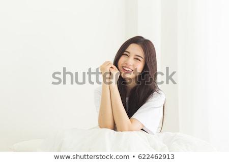 mosolyog · ázsiai · lány · portré · délkelet · nő - stock fotó © szefei