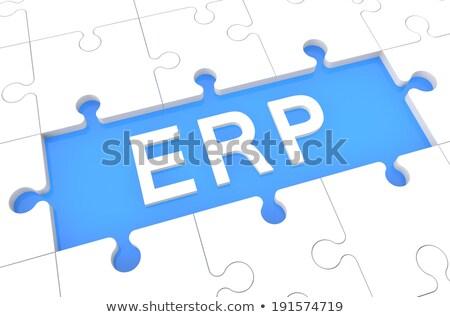 Foto stock: Blanco · palabra · azul · empresa · planificación