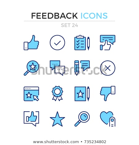 Blue Thumbs Up Icon Review Rating Feedback Stock photo © iqoncept
