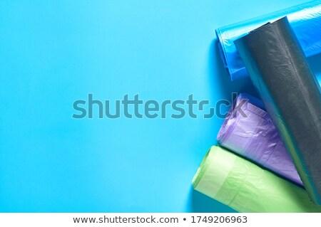 ロール · 青 · プラスチック · ごみ · 袋 · 孤立した - ストックフォト © cipariss