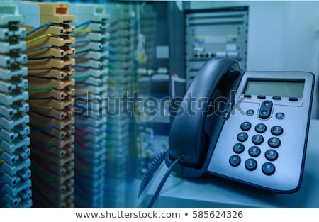 ストックフォト: 電話 · スイッチ · 電話 · セット · 孤立した · 白