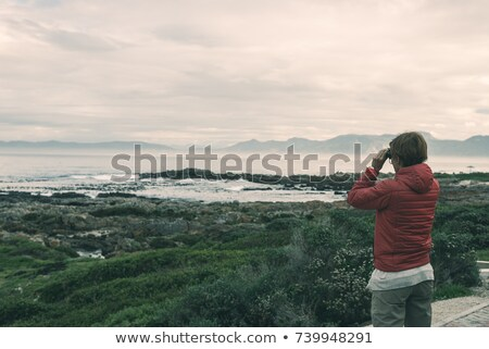 Binocular at the coastline Stock photo © pixpack