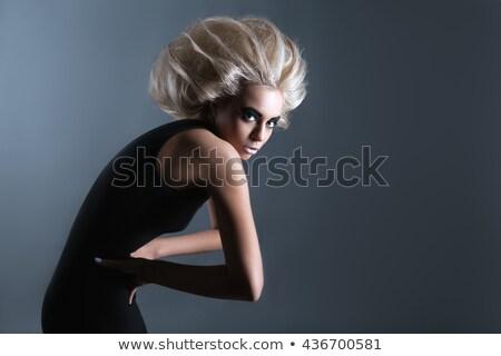 мода стиль женщину футуристический прическа Sexy Сток-фото © gromovataya