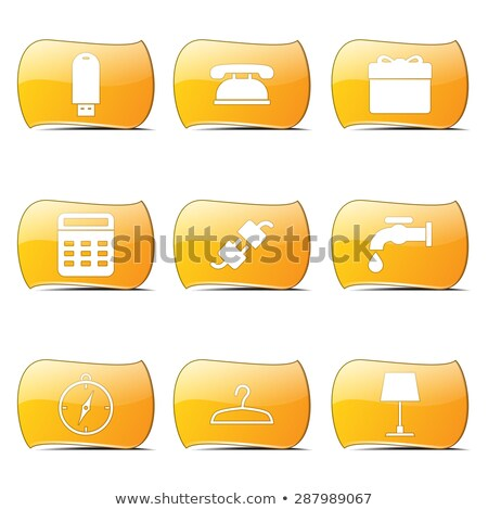 house equipments yellow vector buttonicon design set stock photo © rizwanali3d