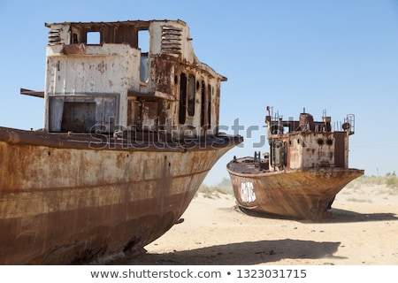 Stock photo: Rusty ship wreckage